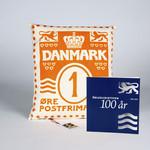 特别装 波浪线百年纪念和1个设计师手工制作珍藏家装靠枕  橙色  配 1丹麦便士邮票