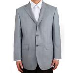 萨托尼 sartore 男士 商务 特价 正装 西服上衣 灰条 03048030