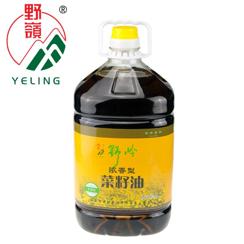 野岭浓香菜籽油5L 物理压榨食用油