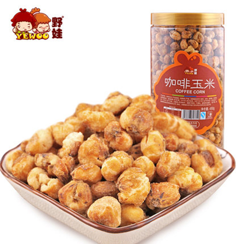 【野娃】新品炒货休闲零食特产咖啡玉米黄金豆香脆酥爆米花450g罐
