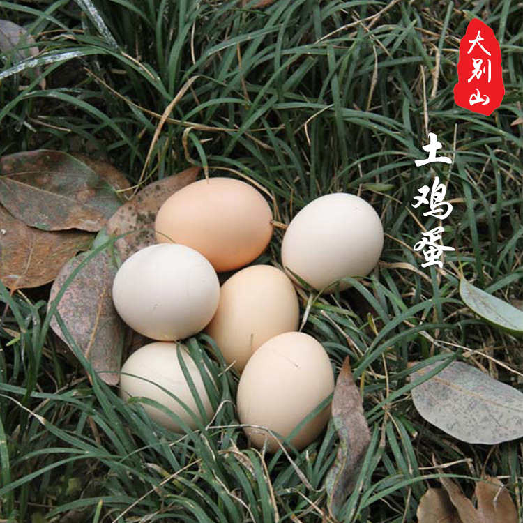 华之慧大别山正宗高山农家散养新鲜土鸡蛋笨鸡蛋柴鸡蛋30个包邮