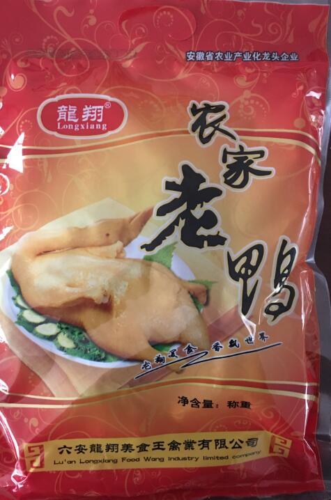龙翔 年货熟食 农家老鸭四分之一只 350克 春节过年送礼