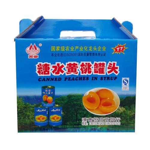 重庆潼南 美宁糖水黄桃罐头425g*8罐