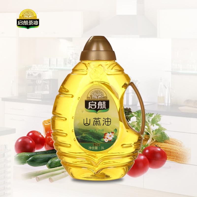 启航 天然野生山茶油食用油3L桶装 非转基因压榨