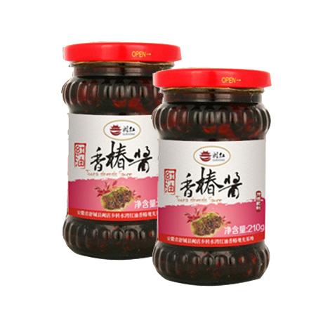 农家自产 红油 香椿酱 210g*2 瓶
