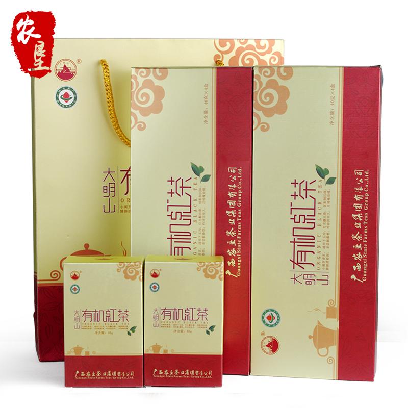 大明山 2016新茶 广西农垦 质量可溯源 有机红茶 礼盒装 凌云白毫茶 红茶160g