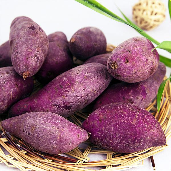 【天天推荐】老俵情-崇义特产农家自种紫薯3斤买二件送1斤9.9元包邮